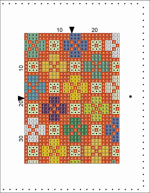 A6 Leather Cover- Quilt Block C