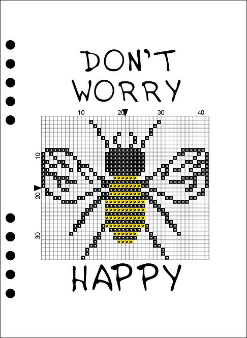 A5 Wooden Book - Don't worry BEE happy