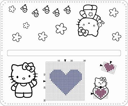 Leather Pencil Bag -Hello Kitty Purple