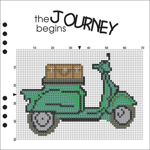 The Journey Begins -Green Scooter