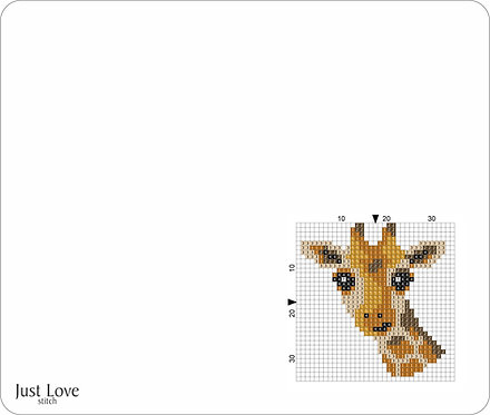 Leather Mouse pad -Giraffe