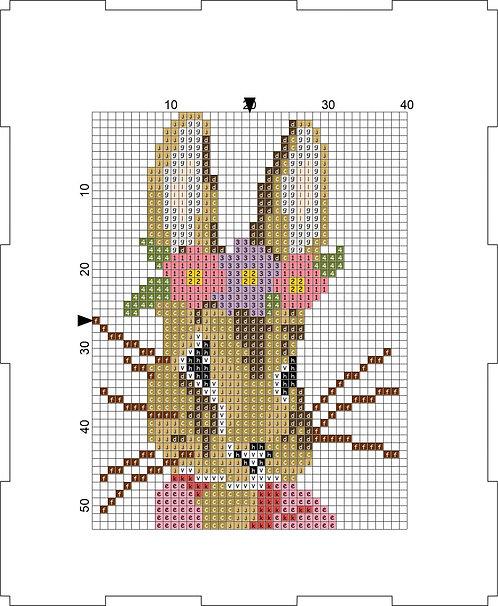 Money Box -Flower Bunny