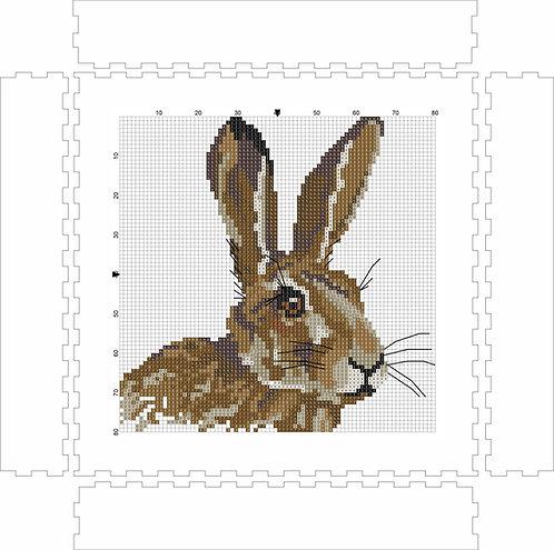 Wall Art Block - Rabbit