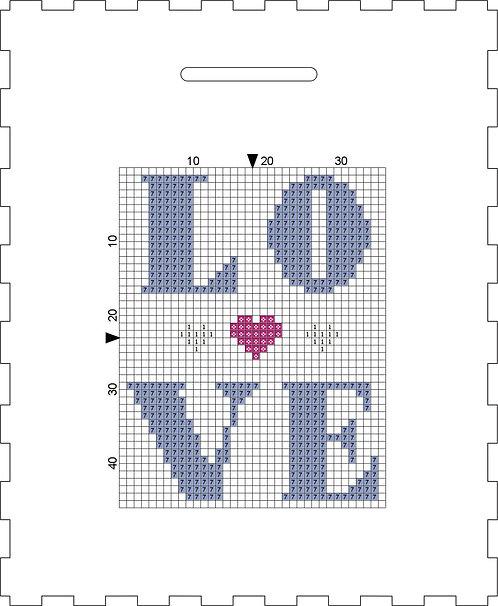 Money Box - LOVE Blue/Purple