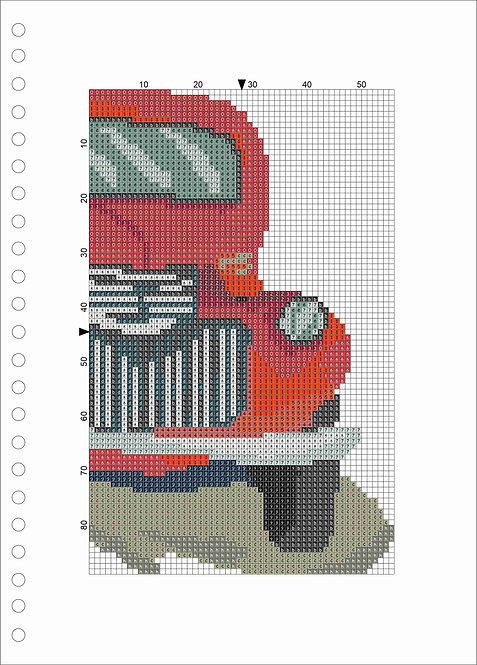A4 Wood book - Red Truck