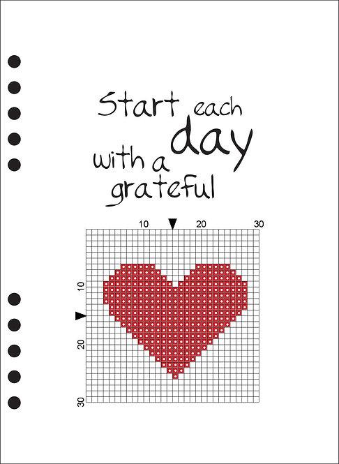 A5 Wooden Book - Start each day