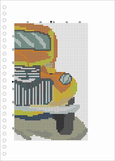 A4 Wood book -Yellow Truck