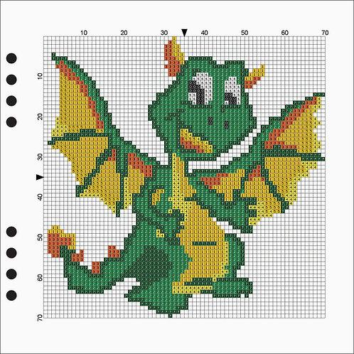 Square Line book - Dragon
