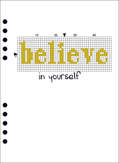 A5 Wooden Book - Believe in yourself