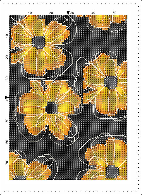 A5 Leather - Yellow flowers 2