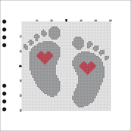 Baby feet Grey