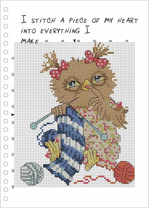 A4 Wood book - Owl Knitting