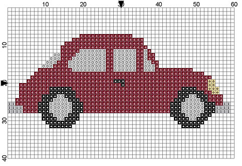 Car burgundy