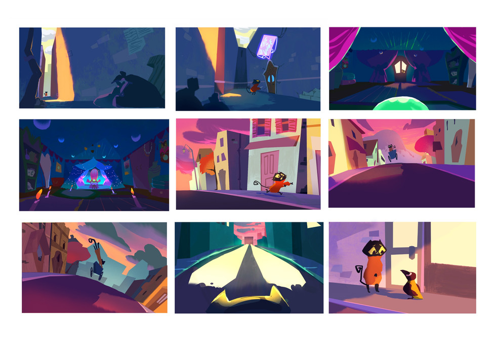 Colour Script for Hightail