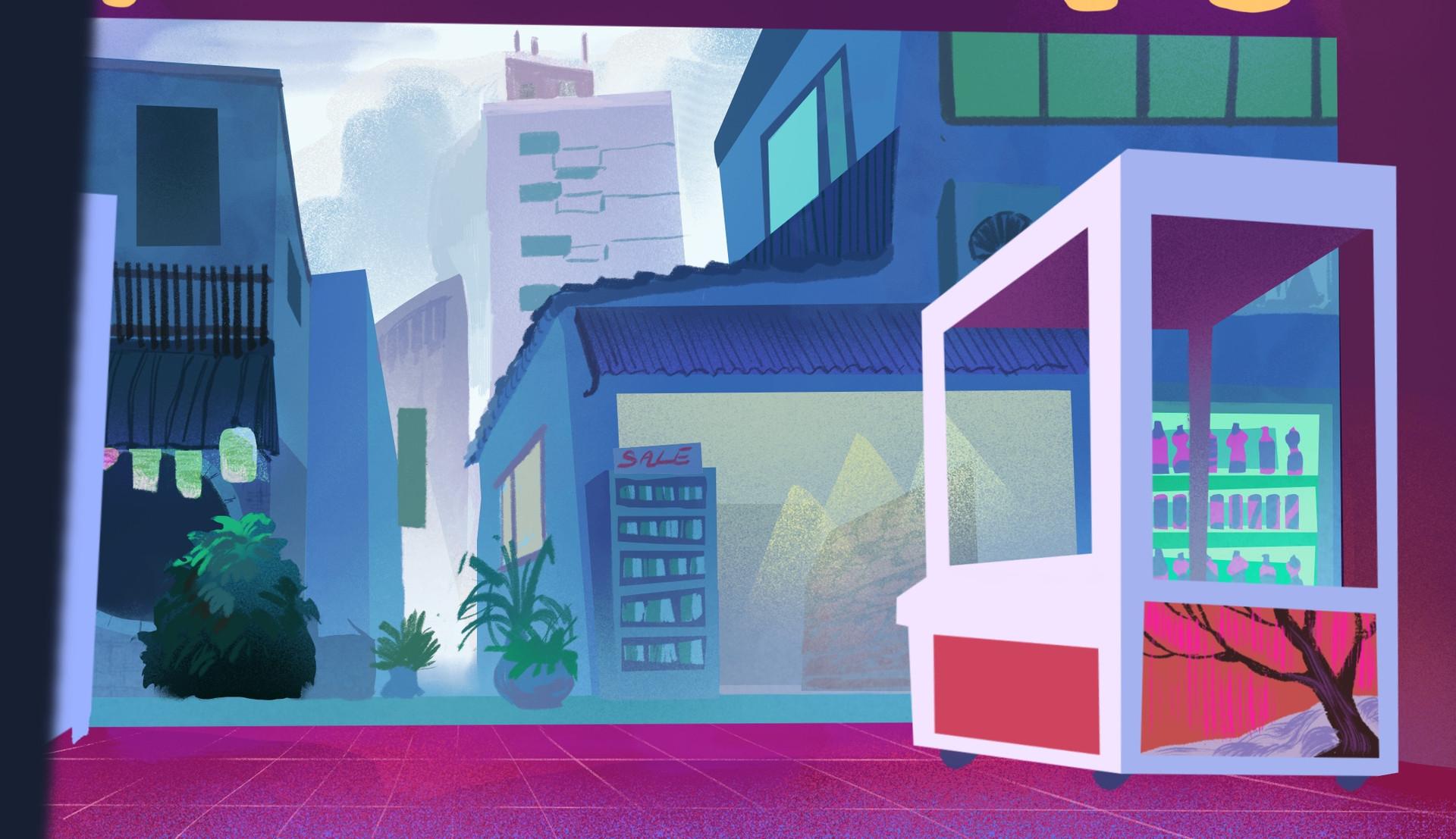 Japanese Game Center Background