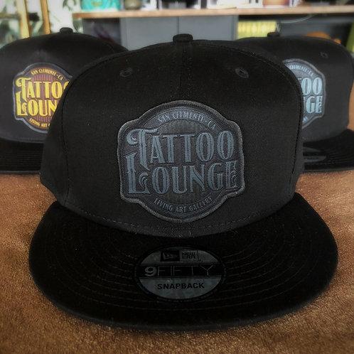 Tattoo Lounge Hat - Black Snapback/Gray Logo