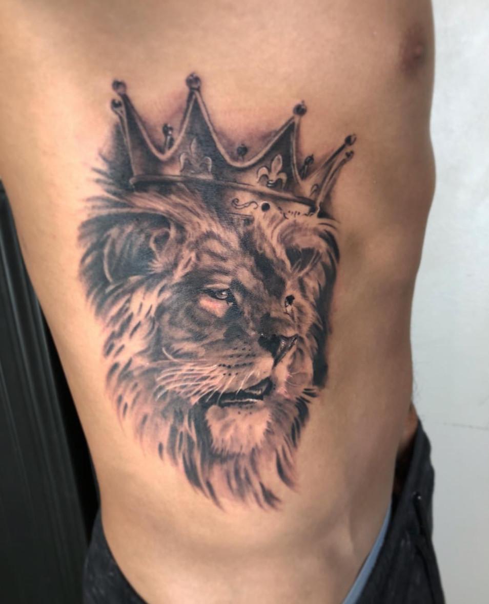 King Lion Tattoo By Austin