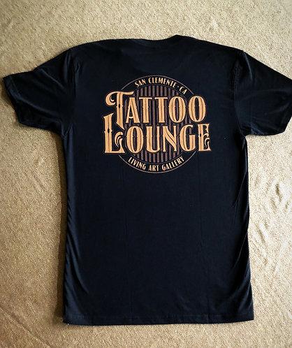 Tattoo Lounge Men's Shirt - Black with Tan Logo