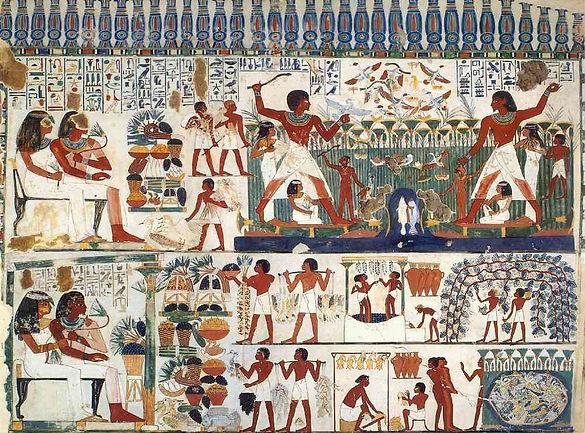 Pintura de la cotidianidad egipcia