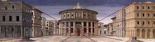 Conic perspective, Ideal city, Piero della Francesca