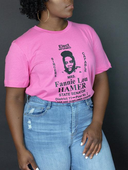 """Fannie Lou Hamer Pink Campaign"" Tee"
