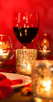 What about a candle light dinner at your home?