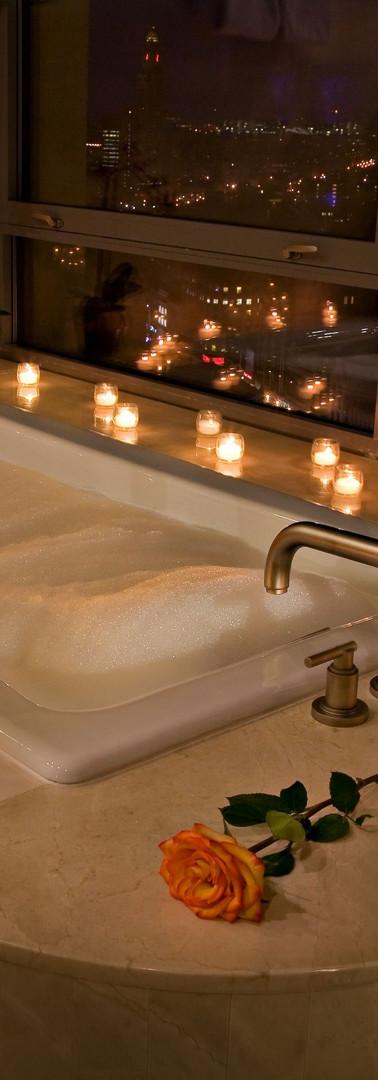 Romantic Candle Light Bath