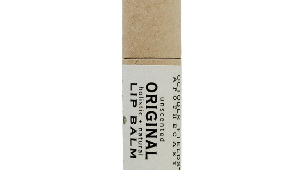 美國OCTOBER FIELDS Original Lip Balm 有機紙管原味護唇膏