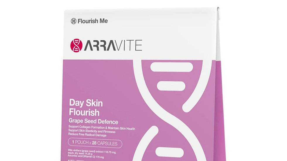 澳洲ARRAVITE Day Skin Flourish Grape Seed Defenece 日間葡萄籽亮膚膠囊