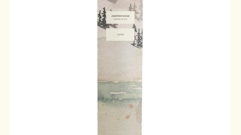 美國JUNIPER RIDGE Cedar Incense sticks 雪松薰枝 20pc (枝)