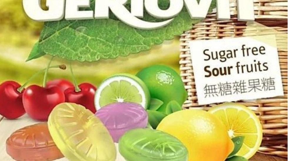 美國GERIO Sugar Free Sour Fruits無糖雜果糖 40g