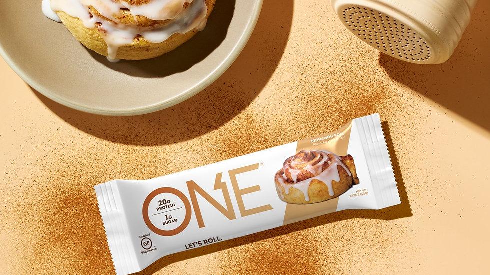美國ONE Let's Roll Bar 不含麩質低卡肉桂卷蛋白棒