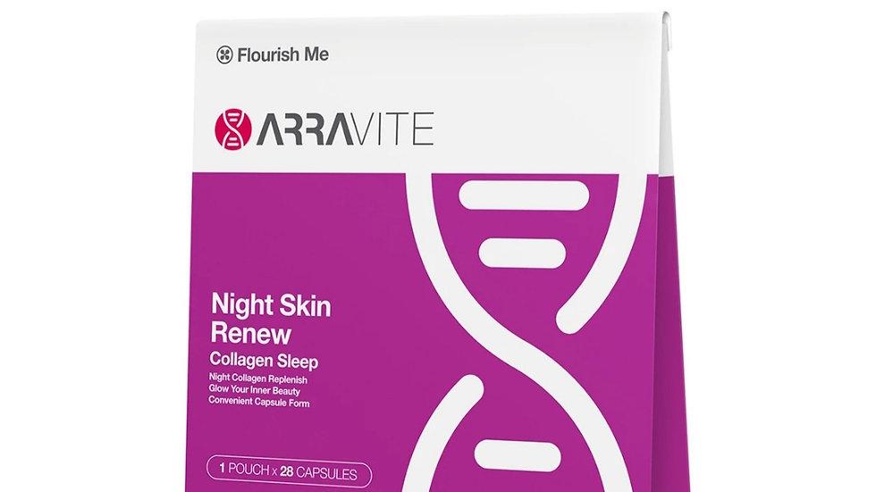 澳洲ARRAVITE Night Skin Renew Collagen Sleep夜間膠原白膠囊