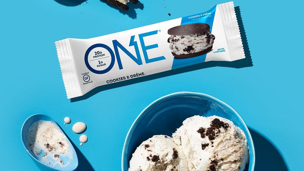 美國ONE Cookie & Dreme Bar 不含麩質低卡忌廉碎曲奇蛋白棒