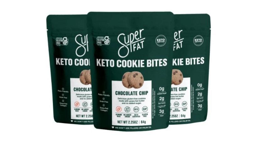 美國SUPER FAT Keto Chocolate Chip Cookie Bites 生酮朱古力粒迷你曲奇