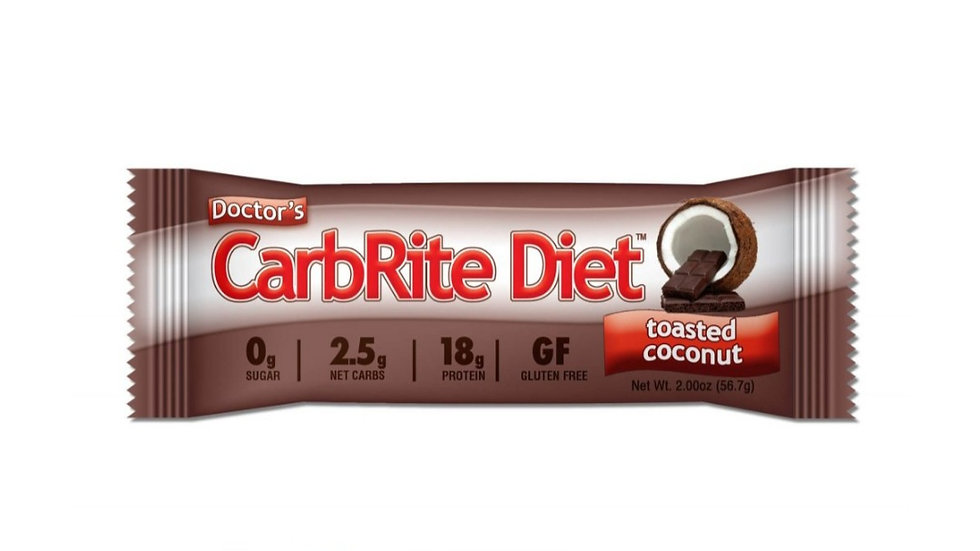美國CARBRITE DIET Toasted Coconut 椰子脆片能量棒