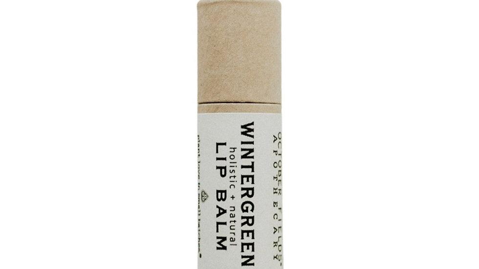 美國OCTOBER FIELDS Wintergreen有機紙管冬青護唇膏