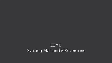 Syncing Mac and iOS versions