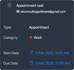 if task is Appointment type in Task Office, then in Apple Calendar it will be All-day OFF