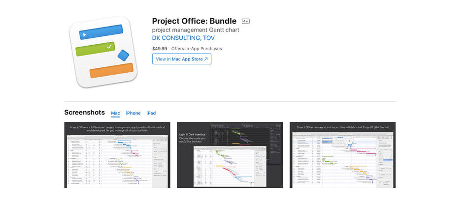 Project Office: Universal Purchase for Mac and iOS Apps