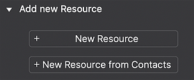 To add Resource, go to Inspectors ▸ Resource Inspector ▸ Add new Resource.
