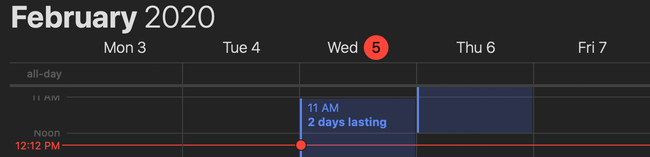if there is a task in Apple Calendar with All-day OFF and duration in 2 days, then it will be synced to Task Office as task of ToDo type with duration in two days.