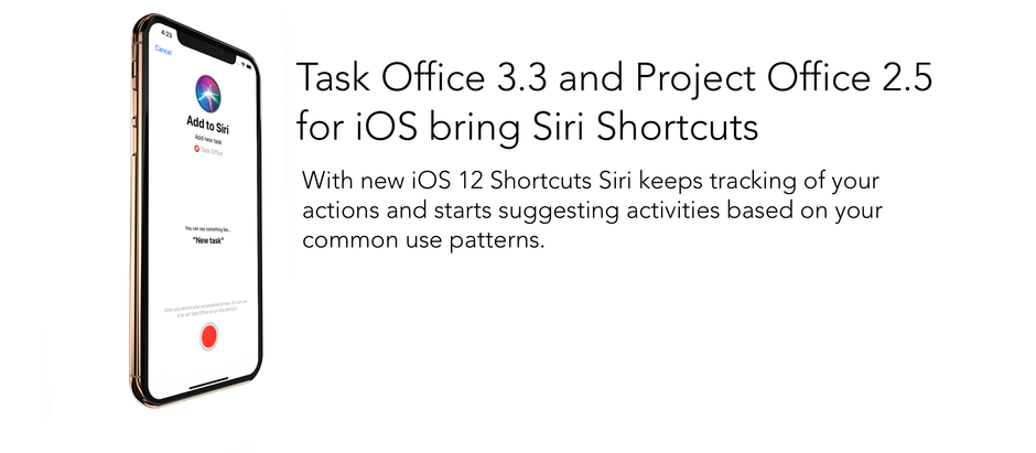 Task Office and Project Office for iOS are ready for iOS 12