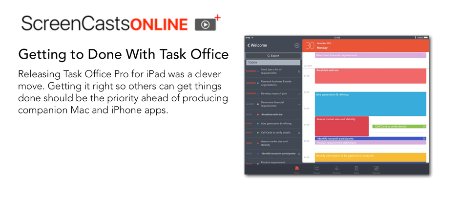 Getting to Done With Task Office