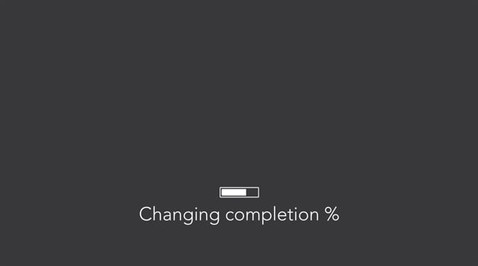 Changing completion percent