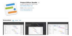 The macOS version of Project Office app is included in a universal purchase, allowing to enjoy an app and in‑app purchases across iOS, iPadOS and macOS by purchasing only once.  Get started by using a single bundle ID for your apps in Xcode and setting up your app record for universal purchase in AppStoreConnect.