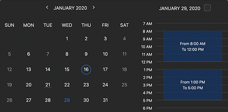 In Calendar you can set the Normal Hours and Non-working Days that are applied to each separate day of month or year.