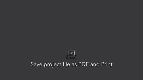 Save as PDF and Print