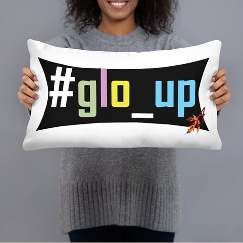#glo_up Throw Pillow