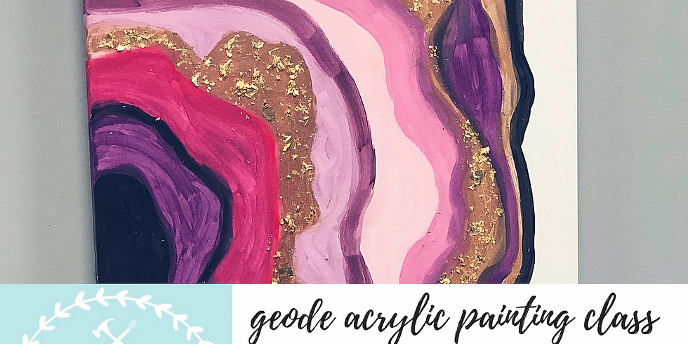 11/6 Geode Painting Class